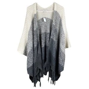 Oversized poncho-perfect for fall/winter/holidays!